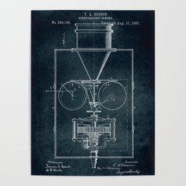 1897 Kinetographic Camera patent art Poster