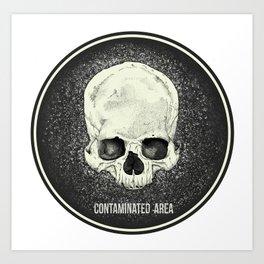 Contaminated Area Art Print
