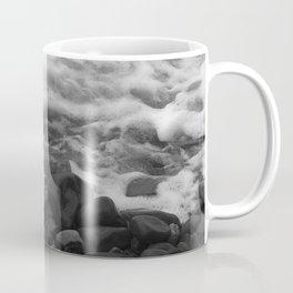 White Waves on Black Rocks Photographic Print Coffee Mug