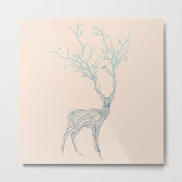 Blue Deer Metal Print