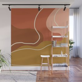Abstract Organic Shapes in Zen Desert Color  Wall Mural