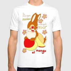 Jackalope and Mango SMALL White Mens Fitted Tee