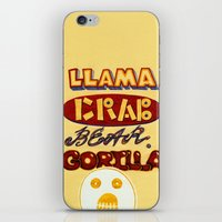 lettering iPhone & iPod Skins featuring Lettering by Nika Belova
