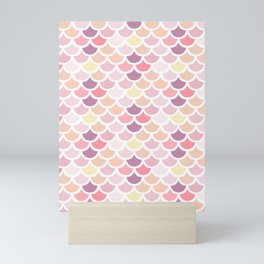 Pink scales pattern Mini Art Print