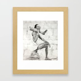 African Dancer Framed Art Print