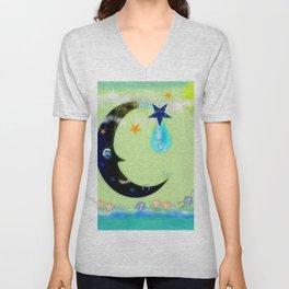 Moon wave Unisex V-Neck
