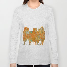 Greensboro, NC Skyline - Rust Long Sleeve T-shirt