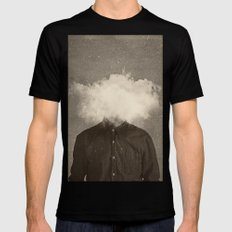 Head In the clouds Black Mens Fitted Tee LARGE