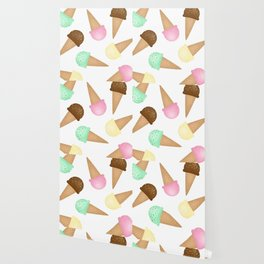 Ice Cream Pattern Wallpaper