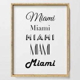 Miami City Quote Sign, Digital Download, Calligraphy Text Art, World City Typography Print, Wall Art Serving Tray