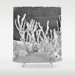 Frosted Plants 2 Shower Curtain