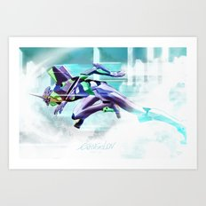 Evangelion Unit 01 - Shinji Ikari's Ride. The Digital Painting. Art Print