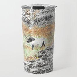 Sheep by the Wall Travel Mug