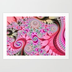Fractal Design Candy Art Print