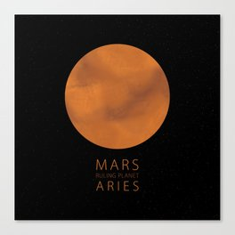 Aries - Ruling Planet Mars Canvas Print