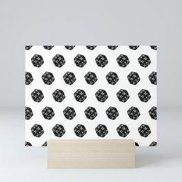 20 Sided Spindown Pattern Mini Art Print