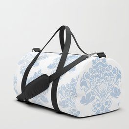 Damask Powder Blue Frost Sensations Duffle Bag