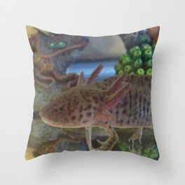 Wild Axolotl Throw Pillow