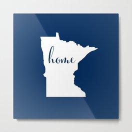 Minnesota is Home - Go Twins - Blue Metal Print