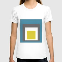 Block Colors - Teal Grey Acid Yellow T-shirt
