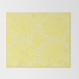 Lemon Yellow Color Burst Throw Blanket