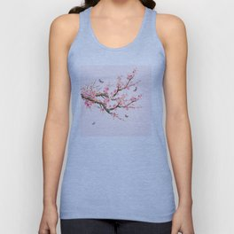 Pink Cherry Blossom Dream Unisex Tank Top