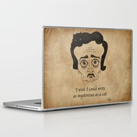 poe Laptop & iPad Skins featuring Poe Cat by 2headedsnake