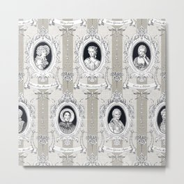 Science Women Toile de Jouy Metal Print