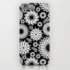Black and white flowers iPhone 6 Slim Case