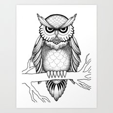 Owl Be Seeing You Art Print