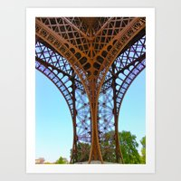 eiffel Art Prints featuring Eiffel by Camille Renee