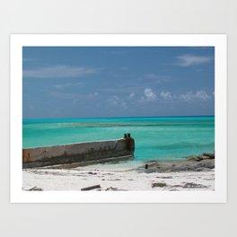 Tropical Bimini waters Art Print
