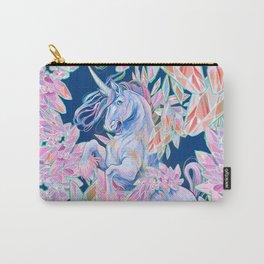 Crystal Snake Rainbow Unicorn Carry-All Pouch