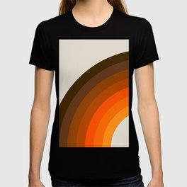 Retro Golden Rainbow - Left Side T-shirt