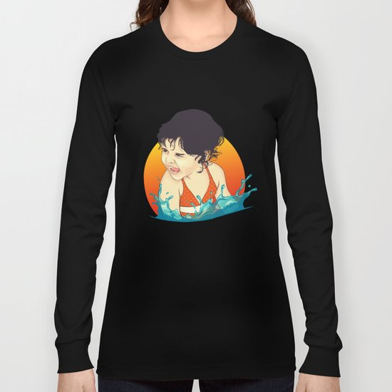 Water Splashes Long Sleeve T-shirt