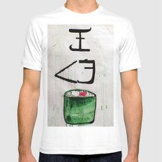 I love sushi !  Mens Fitted Tee White MEDIUM
