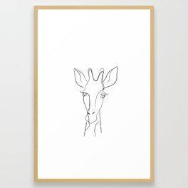 One line giraffe painting Framed Art Print