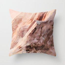 snow mountains landscape Throw Pillow