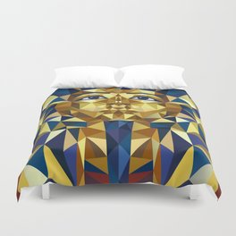Golden Tutankhamun - Pharaoh's Mask Duvet Cover