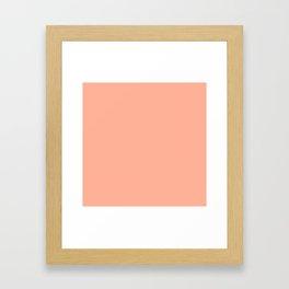 Simply Sweet Peach Coral Framed Art Print
