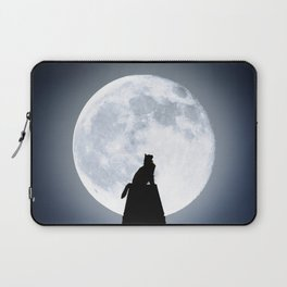Cat by Day, Vigilante by Night Laptop Sleeve