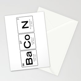 The Chemistry of Bacon, Funny Nerdy Periodic Table Stationery Cards