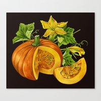 pumpkin Canvas Prints featuring Pumpkin by ElenaTerrin