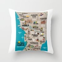 philippines Throw Pillows featuring Metro Manila, Philippines by Reg Silva / Wedgienet.net