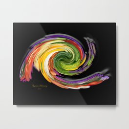The whirl of life, W1.9B Metal Print
