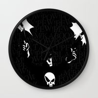 punisher Wall Clocks featuring The Punisher by Rob O'Connor