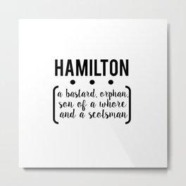 a.ham // white Metal Print