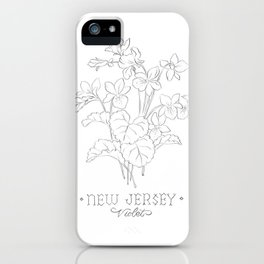 New Jersey Sketch iPhone Case