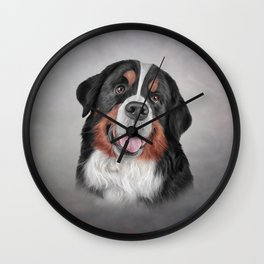 Drawing Bernese Mountain Dog Wall Clock