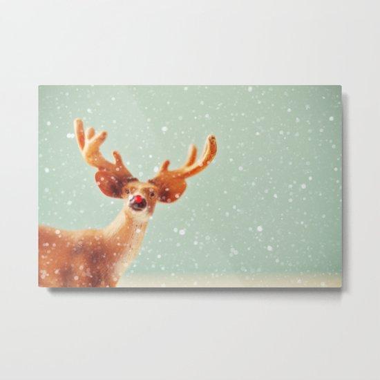 holiday deer Metal Print